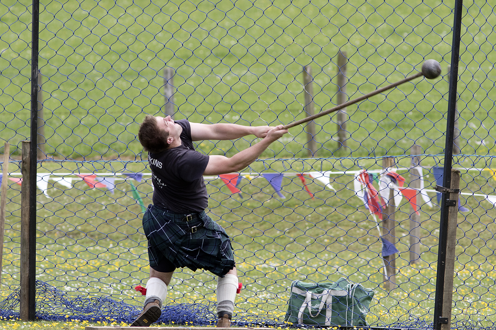 Hammer Throw at a Highland Games event in Scotland