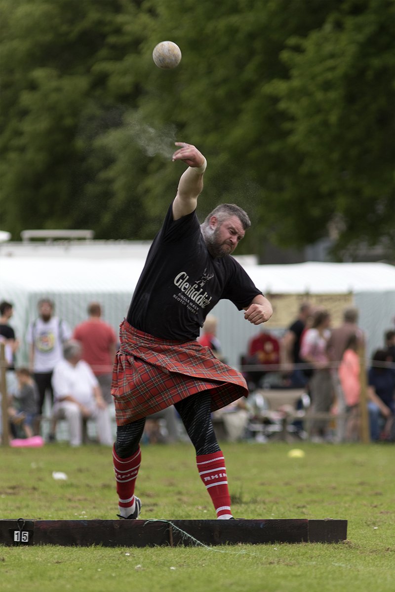 Shot Put at a Highland Games event in Scotland