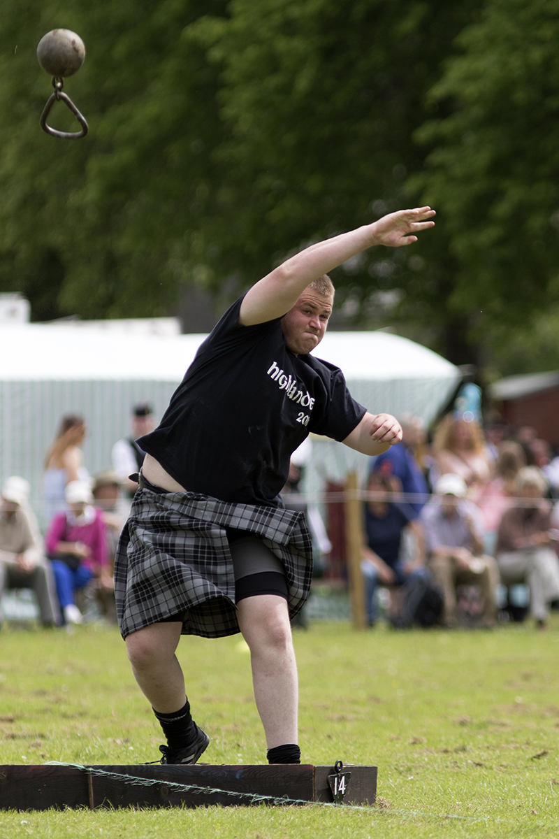 Weight for Distance at a Highland Games event in  Scotland
