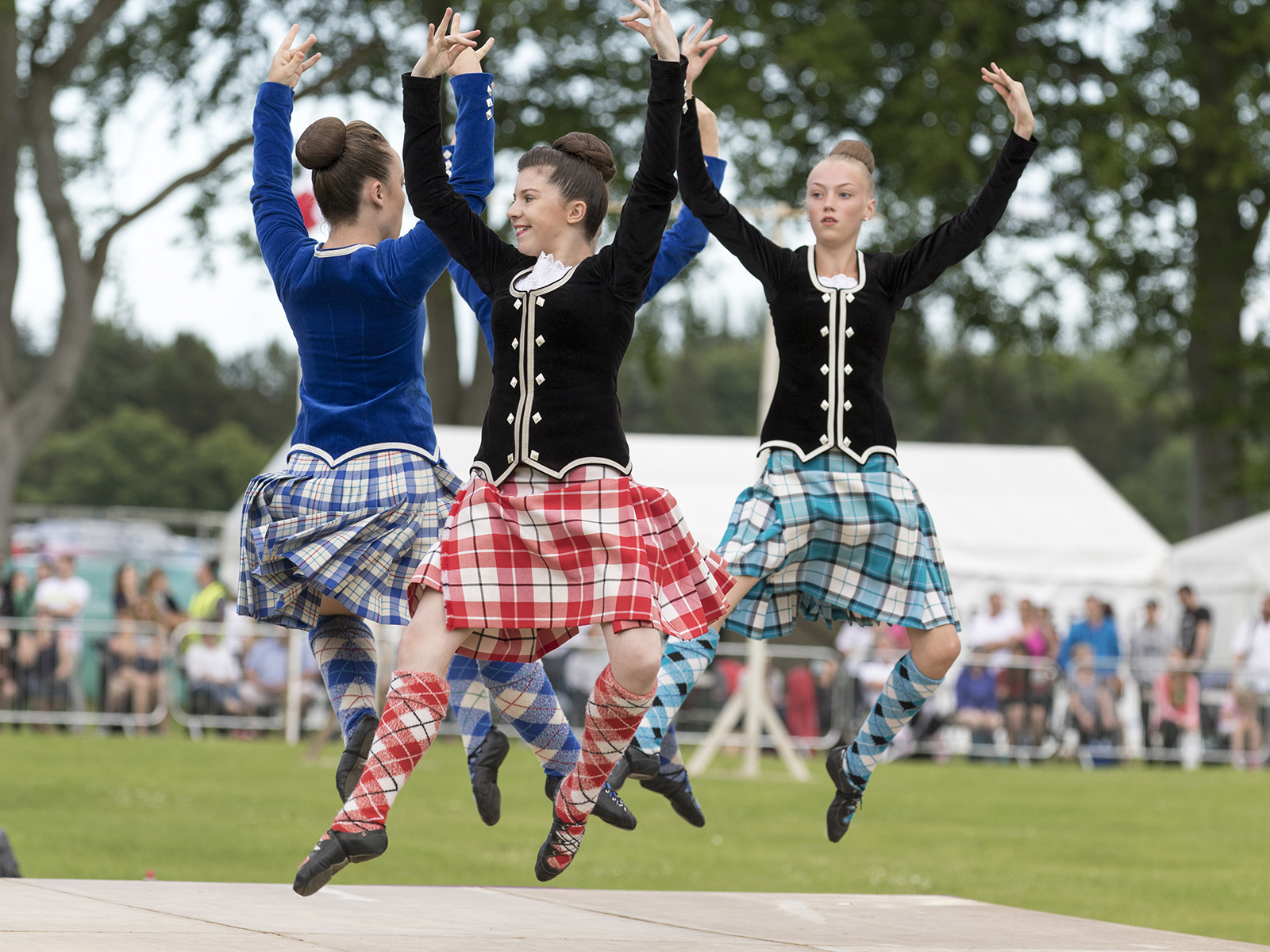 Highland Dancers at a Highland Games Event in  Scotland