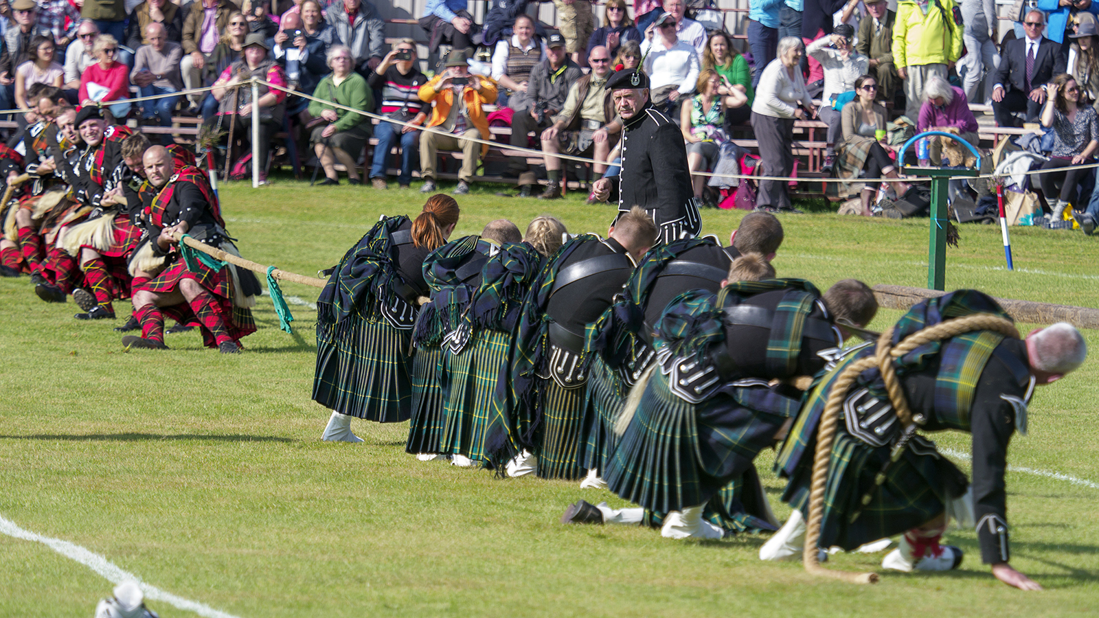 Tug of War at a Highland Games event in Scotland