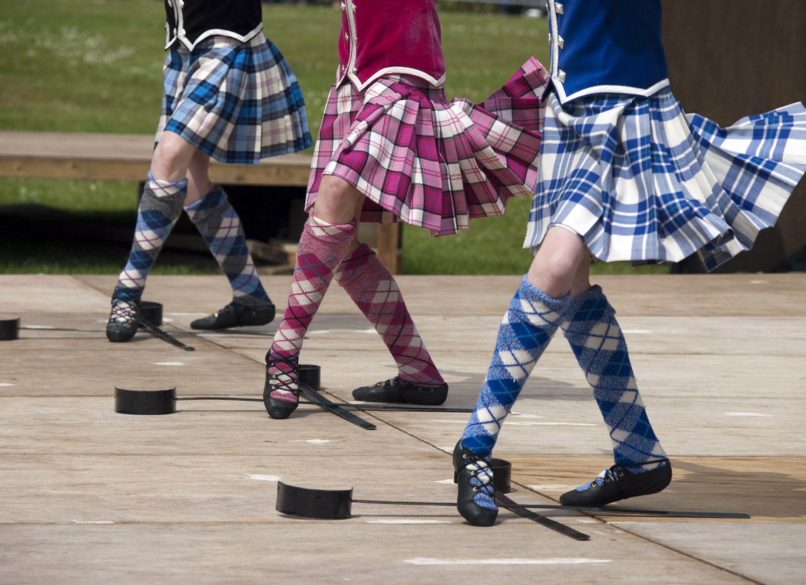 Sword Dancers at a Highland Games event in Scotland