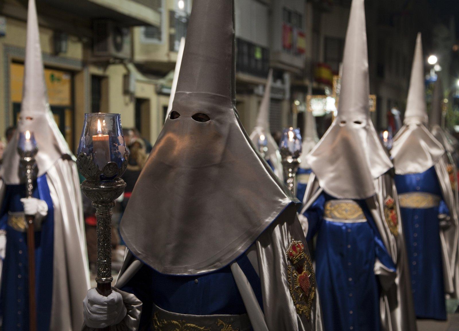 Night Procession during Semana Santa in Cartagena, Spain