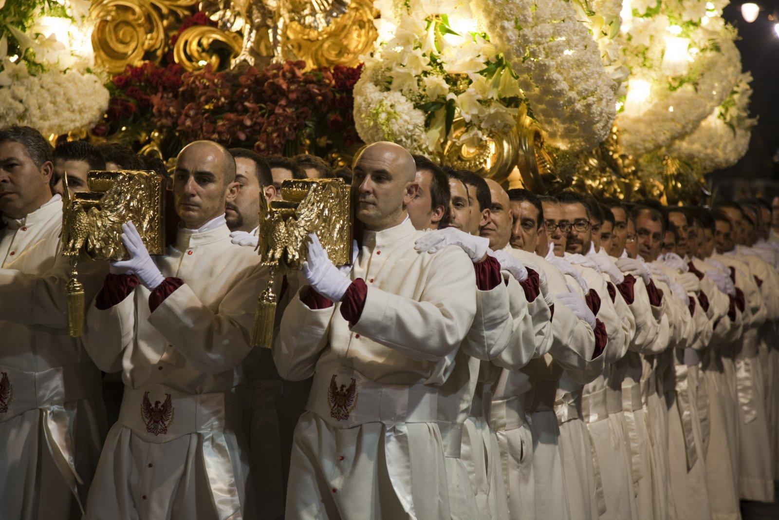 A Trono during the Semana Santa processions in Cartagena, Spain