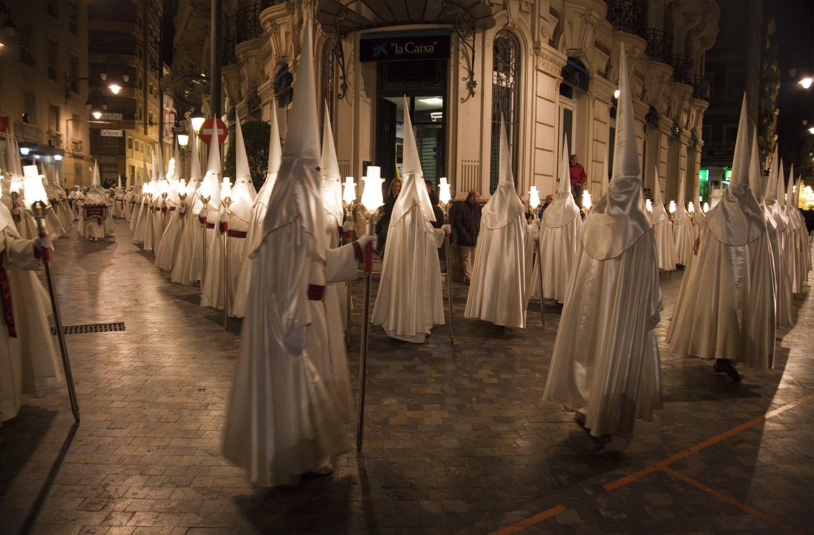 Semana Santa Procession in Cartagena, Spain