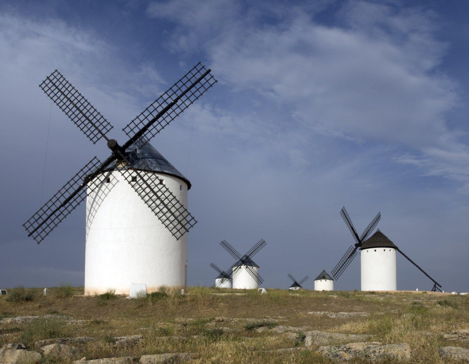 Windmills on La Mancha, Spain