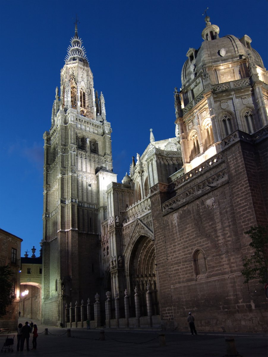 Toledo Cathedral at Night, Spain