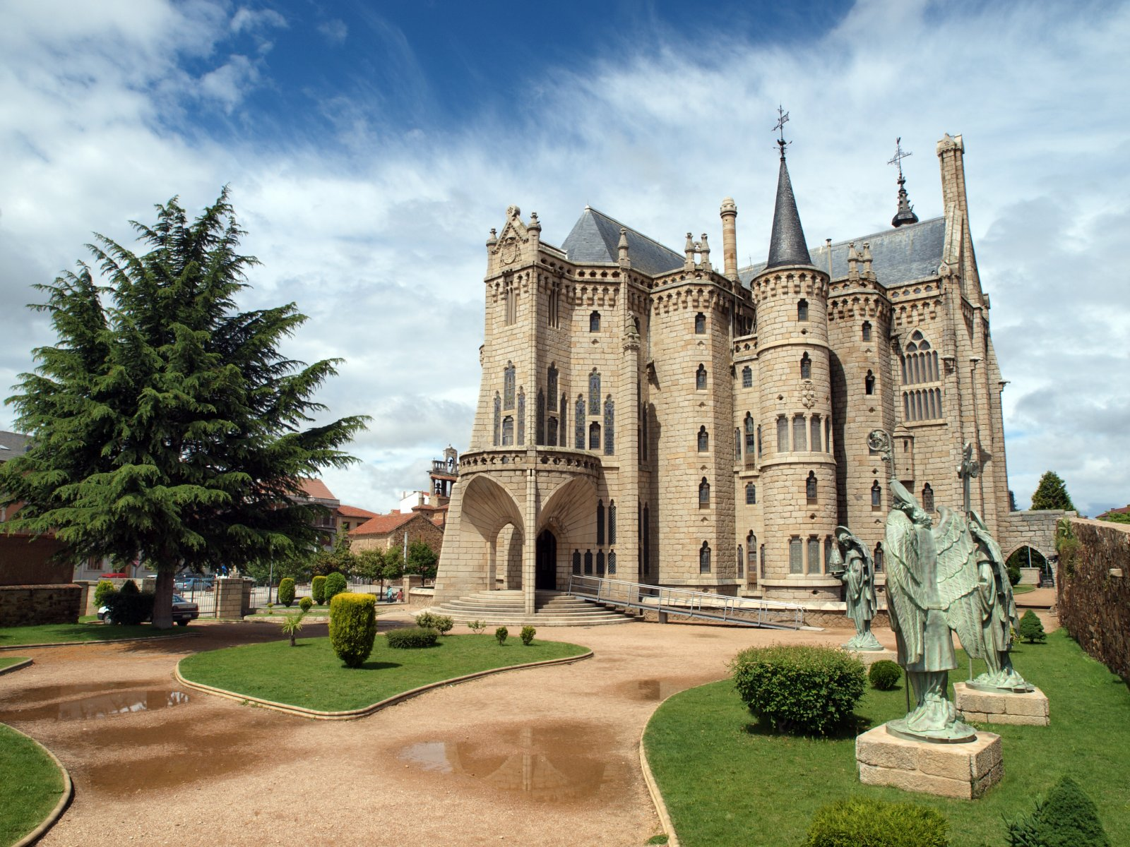 The Episcopal Palace of Astorga, Spain